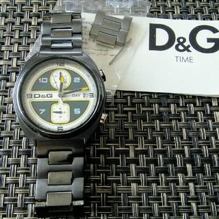 ディーアンドジー(D&G)のレア!ドルチェ&ガッバーナ D&G ドルガバ クロノグラフ 電池交換済み(腕時計(アナログ))