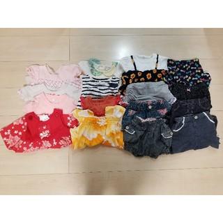 ハッシュアッシュ(HusHush)の女の子 まとめ売り 80 夏 半袖 Tシャツ チュニック ワンピース ズボン(Tシャツ)