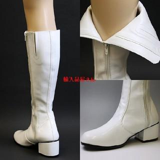 【最終値下げ】エナメルロングブーツ ホワイト(靴/ブーツ)