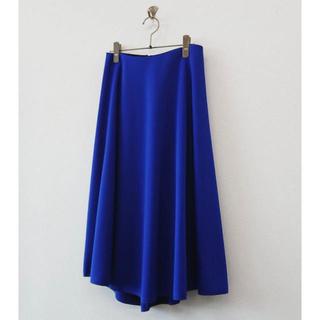 スリーフォータイム(ThreeFourTime)のスリーフォータイム ポンディングサーキュラーミディスカート ブルー(ひざ丈スカート)