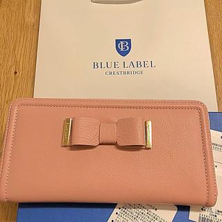 バーバリーブルーレーベル(BURBERRY BLUE LABEL)のクレストブリッジ箱付きブルーレーベル長財布レザー(財布)