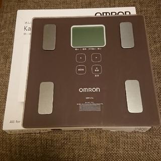 オムロン(OMRON)のオムロン 体重・体組成計 カラダスキャン ブラウン HBF-214 BW(体重計/体脂肪計)