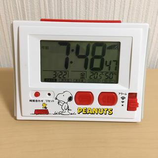 スヌーピー目覚まし電波時計 温度 湿度表示付 R126 8RZ126RH03(置時計)