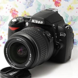 ニコン(Nikon)の★スマホにWi-fi転送★軽量コンパクト★ニコン D40 レンズキット★(デジタル一眼)