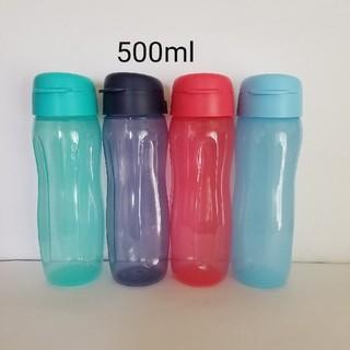 新品 タッパーウェア 500mlフリップキャップボトル 4色セット