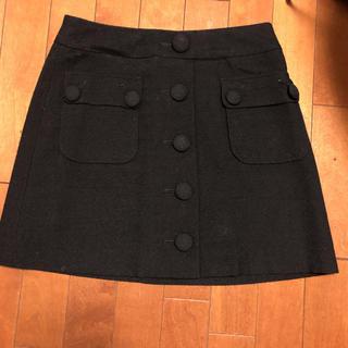 キスミス(Xmiss)の黒  スカート 台形(ひざ丈スカート)