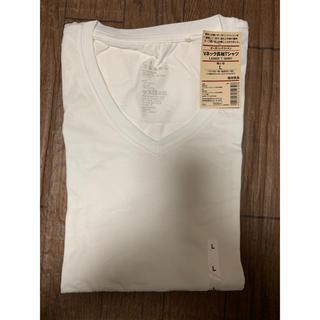 MUJI (無印良品) - 無印了解 オーガニックコットン長袖Tシャツ Lレディース ホワイト