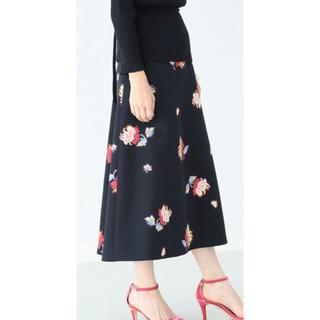 デミルクスビームス(Demi-Luxe BEAMS)のデミルクスビームズ フラワースカート(ひざ丈スカート)