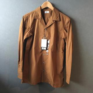 ユニクロ(UNIQLO)のUNIQLO U オープンカラーシャツ ブラウン (シャツ)
