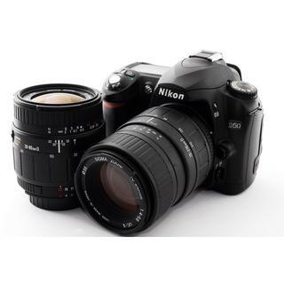 ニコン(Nikon)のNikon D50 標準&望遠レンズセット☆新品SDカード付(デジタル一眼)