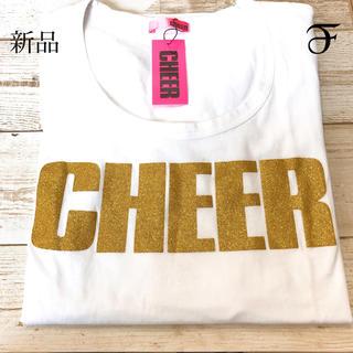 チアー(CHEER)の新品 チアー ゴールドラメ入り Tシャツ(Tシャツ(長袖/七分))