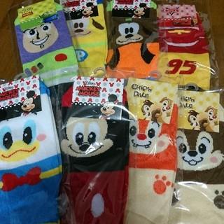 ディズニー(Disney)のディズニー靴下新品 21-24㎝ 8足セット レディース/キッズ/ジュニア(靴下/タイツ)