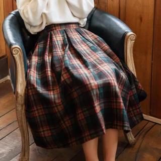 ジーユー(GU)のチェックスカート(ロングスカート)