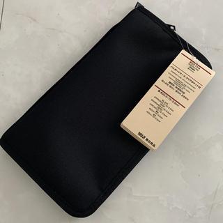 ムジルシリョウヒン(MUJI (無印良品))の無印良品 パスポートケース クリアポケット付き 新品 ブラック(日用品/生活雑貨)