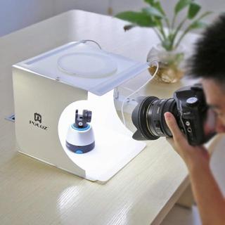 【送料無料】 撮影ボックス 2LEDライト USB給電 背景布6色付(ストロボ/照明)
