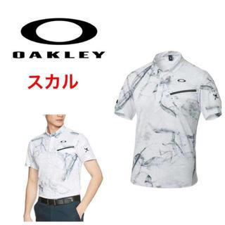 オークリー(Oakley)のL 新品 定価14040円 オークリー スカル ポロシャツ ゴルフウェア (ウエア)