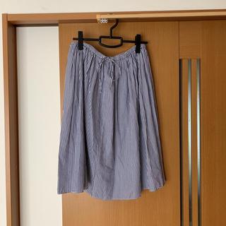 シャンブルドニーム(chambre de nimes)のストライプ  スカート(ひざ丈スカート)