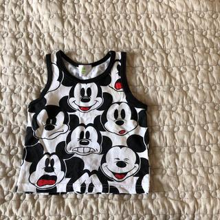 ディズニー(Disney)のミッキ柄タンクトップ(Tシャツ)