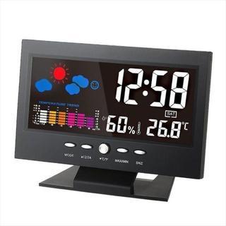 LCD デジタル温度湿度計(置時計)