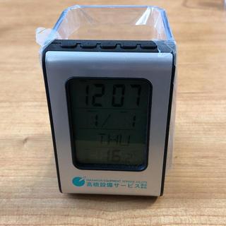 デジタル機能付きペンスタンド(置時計)