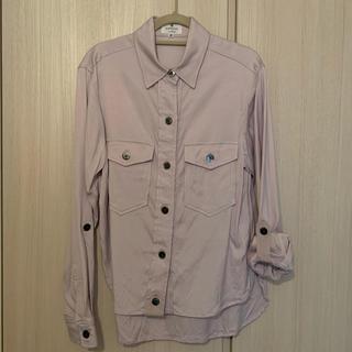 ランバンオンブルー(LANVIN en Bleu)のLANVIN ランバン 淡いパープルのシャツ(シャツ/ブラウス(長袖/七分))