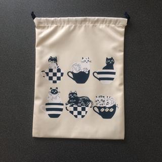 カルディ(KALDI)の【完売品★新品未使用】カルディ  オリジナル 猫の巾着(ポーチ)