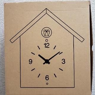 ムジルシリョウヒン(MUJI (無印良品))のお値下中 新品 無印 鳩時計 大 ナラ材(掛時計/柱時計)