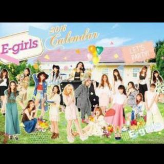 イーガールズ(E-girls)のE-girlsカレンダー2016(女性タレント)