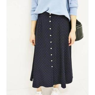 イエナ(IENA)のIENA 前ボタン ドットスカート(ひざ丈スカート)
