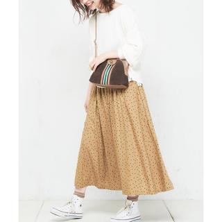 ナチュラルクチュール(natural couture)のナチュラルクチュール ドットスカート(ロングスカート)