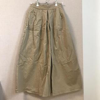 ジーユー(GU)のGU チノ フレア マキシ丈 スカート S(ロングスカート)