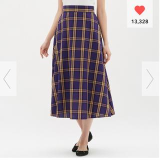 ジーユー(GU)の新品スカート、パープルM(ロングスカート)