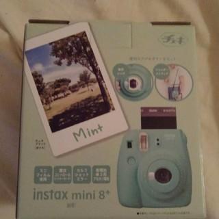 チェキ mini8 +ミントブルー 新品 送料無料即日発送(フィルムカメラ)