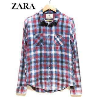 ザラ(ZARA)のZARA ザラ ヴィンテージ加工 チェックシャツ?(シャツ)