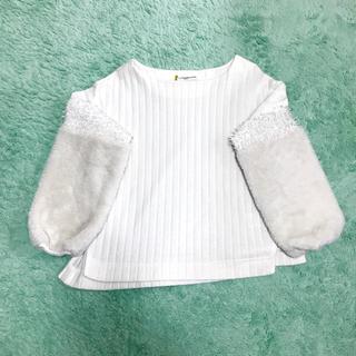 ガリャルダガランテ(GALLARDA GALANTE)のGALLARDAGALANTE 女性 白 ニット セーター 新品同様 送料込み(ニット/セーター)