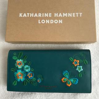 キャサリンハムネット(KATHARINE HAMNETT)のキャサリンハムネット  長財布 アリス ターコイズ (財布)