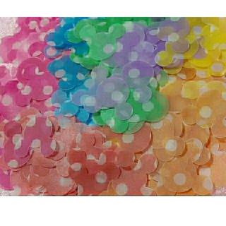 ディズニー(Disney)の★350枚★ 7色 ミッキー クラフトパンチ フラワーシャワー disney (各種パーツ)