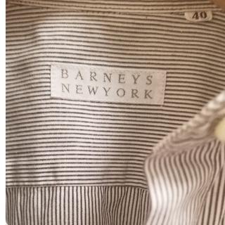 バーニーズニューヨーク(BARNEYS NEW YORK)の値下げ◆美品◆バーニーズニューヨーク ストライプシャツ(シャツ/ブラウス(長袖/七分))