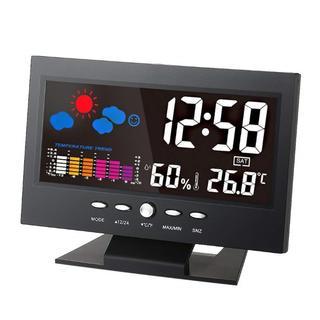 ☆ 新品 ☆☆カラーディスプレイ デジタル温度湿度計 LCD温度湿度計☆(置時計)