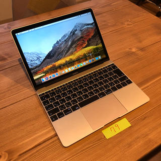 マック(Mac (Apple))の美品 MacBook 12インチ 2017 ゴールド(ノートPC)