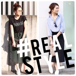ジーユー(GU)の【REAL STYLE】美品*ライトニットフレアスカート(ロングスカート)
