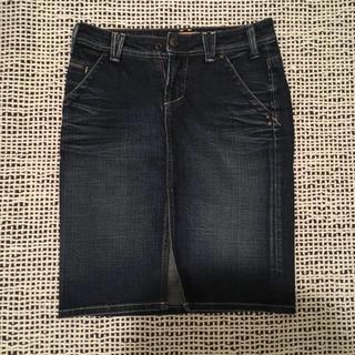 ジーユー(GU)のYANUK♡デニムスカート(ひざ丈スカート)