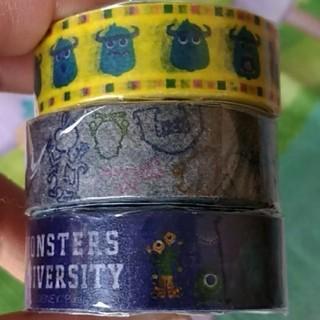 ディズニー(Disney)の未使用★モンスターズインク マスキングテープ3個セット(テープ/マスキングテープ)