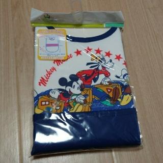 ディズニー(Disney)の【新品・開封済】ロングエプロン  ミッキーマウス(お食事エプロン)