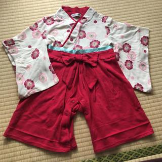 子供用袴ロンパース90cm(和服/着物)