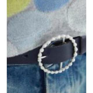 ミナペルホネン(mina perhonen)のミナペルホネン tambourine ベルト  ブラック 新品未使用(ベルト)