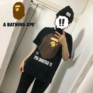 A BATHING APE - 【A BATHING APE】定番 エイプヘッド クルーネックTシャツ M