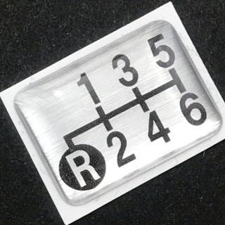 シフトパターンエンブレム 6速車用(左下リバース)(トラック・バス用品)