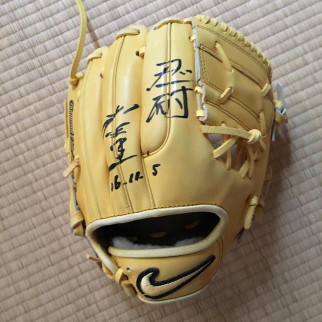 NIKE(ナイキ)の衣笠祥雄 サイン入り グローブ スポーツ/アウトドアの野球(グローブ)の商品写真