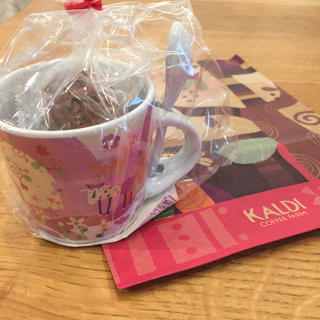 カルディ(KALDI)のカルディKALDI モモめえミニカップ(スプーン付き)チョコレートクランチ(菓子/デザート)